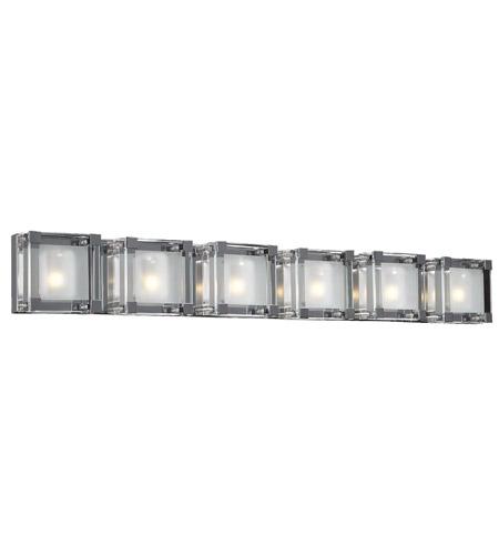 PLC Lighting Corteo 6 Light Vanity Light in Polished Chrome 18146-PC photo