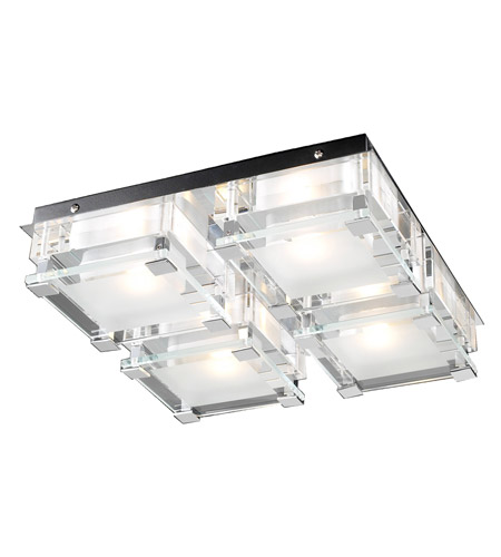 PLC Lighting 18149-PC Corteo 4 Light 13 inch Polished Chrome Flush ...