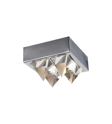 PLC Lighting Crysto 1 Light Flush Mount in Polished Chrome 18168-PC photo