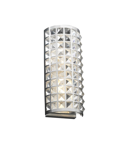 PLC Lighting Jewel 2 Light Wall Sconce in Polished Chrome 18185-PC photo