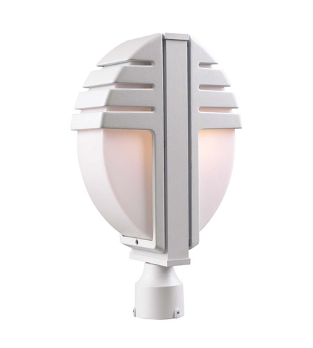 PLC Lighting Synchro 2 Light Outdoor Post Mount in White 1831-WH photo