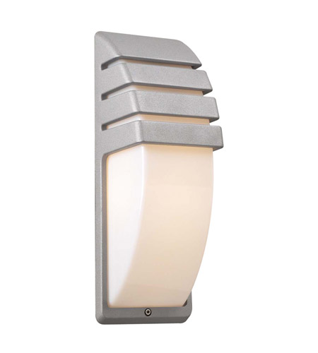 PLC Lighting 1832-SL Synchro 1 Light 14 inch Silver Outdoor Wall Sconce photo