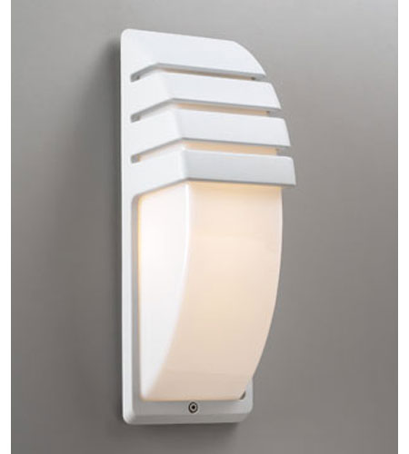 PLC Lighting 1832-WH Synchro 1 Light 14 inch White Outdoor Wall Sconce photo