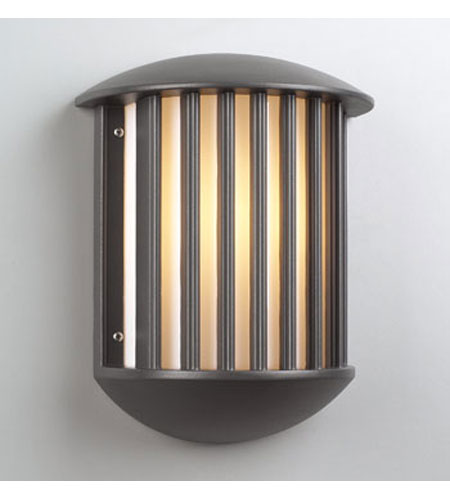 PLC Lighting Circa Outdoor Wall Sconce in Bronze with Matte Opal Glass 1868-BZ photo