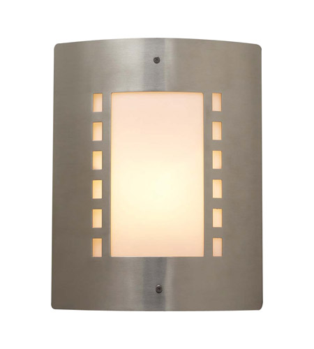 PLC Lighting Paolo 1 Light Outdoor Wall Sconce in Satin Nickel 1873-SN photo