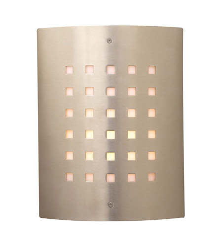 PLC Lighting Figaro 1 Light Outdoor Wall Sconce in Satin Nickel 1879-SN photo