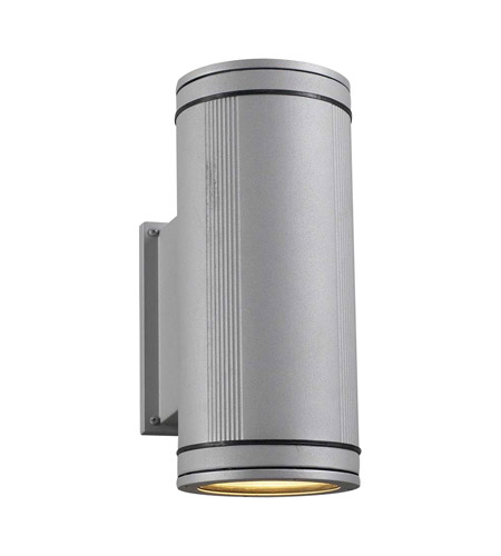 PLC Lighting 1884-SL Meridian 2 Light 14 inch Silver Outdoor Wall Sconce photo