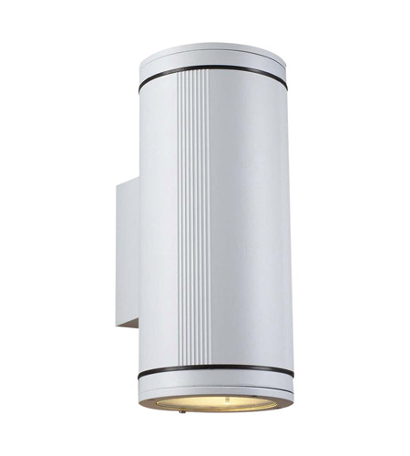 PLC Lighting 1884-WH Meridian 2 Light 14 inch White Outdoor Wall Light in Incandescent, Up and Down Light photo