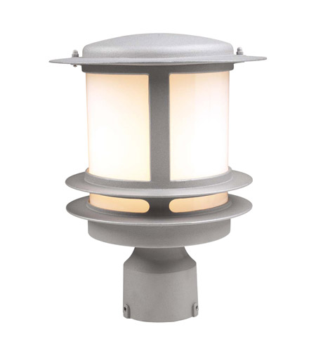 PLC Lighting 1896-SL Tusk 1 Light 12 inch Silver Outdoor Post Mount photo