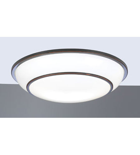 PLC Lighting Delano Flush Mount in Oil Rubbed Bronze with Matte Opal Glass 1952-ORB photo