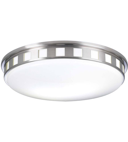 PLC Lighting 1958SNLED Paxton LED 16 inch Satin Nickel Flush Mount Ceiling Light photo