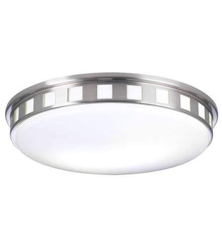 PLC Lighting 1958-SN Paxton 2 Light 16 inch Satin Nickel Flush Mount Ceiling Light photo
