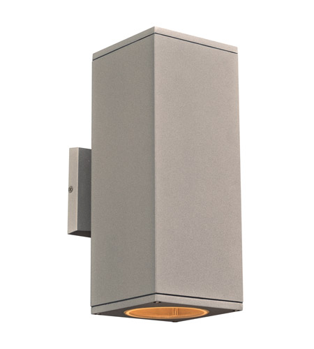 PLC Lighting 2087SL Dominick LED 12 inch Silver Outdoor Wall Light, Up and Down Light photo thumbnail