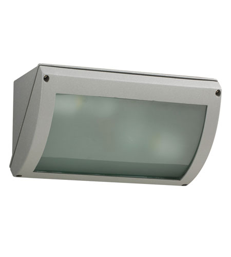 PLC Lighting 2100-SL Seto 2 Light 6 inch Silver Outdoor Wall Sconce photo