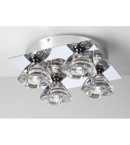 PLC Lighting Aquaria Flush Mount in Polished Chrome with Clear Glass 21055-PC photo