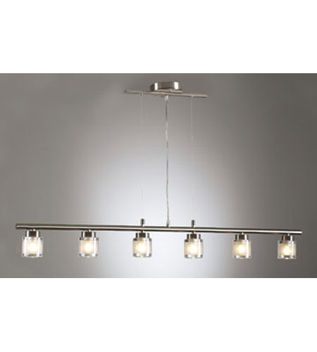 PLC Lighting Julius Pendant in Satin Nickel with Frost Glass 21086-SN photo