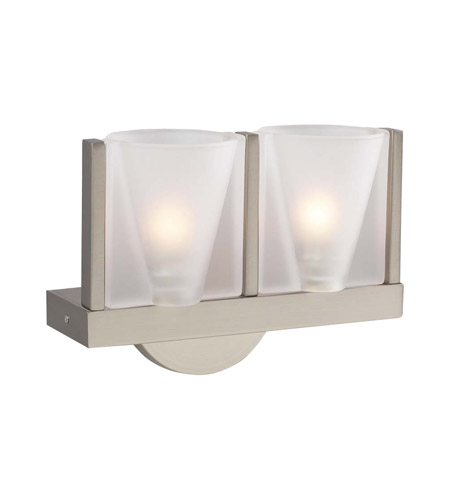 PLC Lighting 21115-SN Bilbao 2 Light 9 inch Satin Nickel Wall Sconce Wall Light  photo