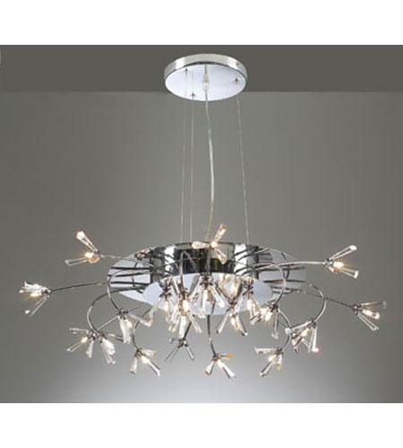 PLC Lighting Seville 21 Light Chandelier in Polished Chrome 21136-PC photo