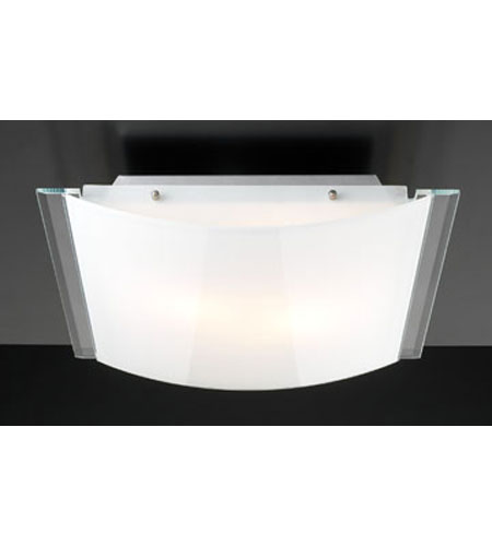 PLC Lighting Century Flush Mount in Aluminum with Opal Glass 21167-AL photo