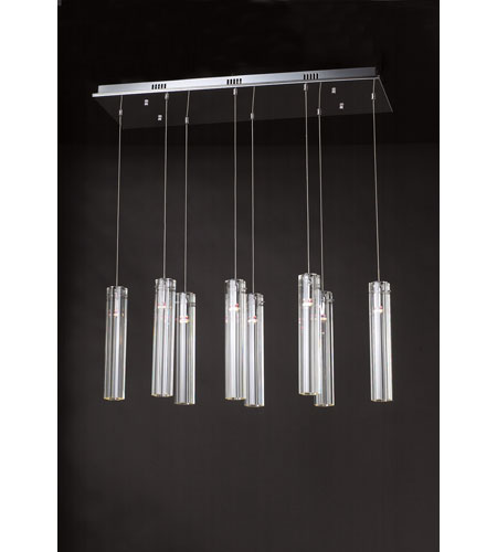 PLC Lighting Segretto 8 Light Chandelier in Polished Chrome 21185-PC photo