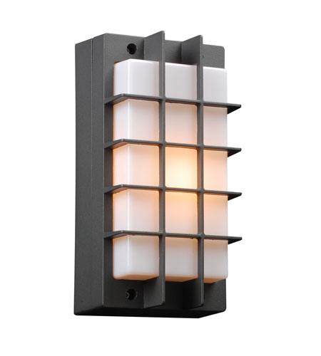PLC Lighting Lorca 1 Light Outdoor Wall Sconce in Bronze 2119-BZ photo