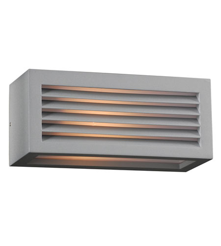 PLC Lighting Madrid 1 Light Outdoor Wall Sconce in Silver 2242-SL photo