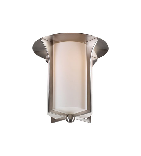 PLC Lighting Pixel 1 Light Flush Mount in Satin Nickel 23010-SN photo