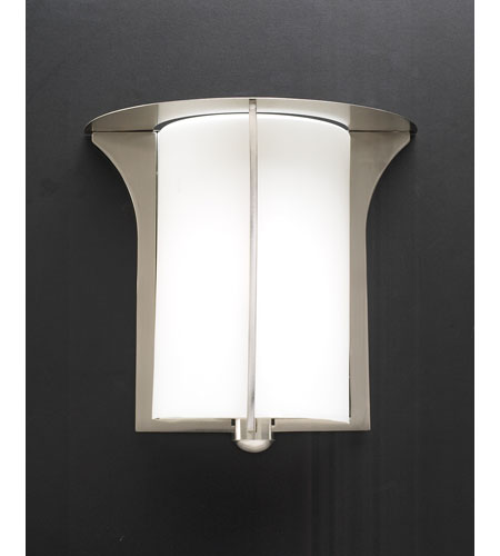 PLC Lighting Pixel Sconce in Satin Nickel with Matte Opal Glass 23019-SN photo