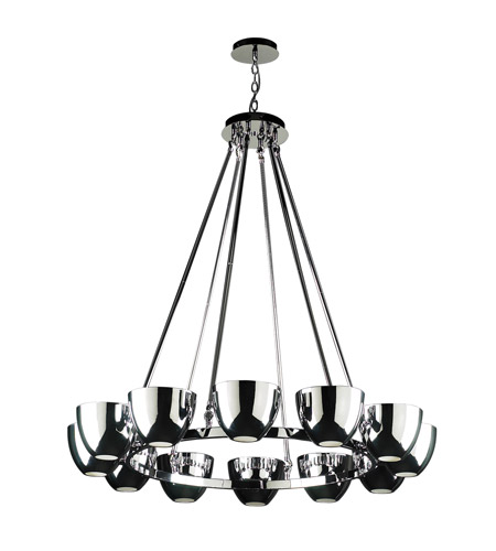 PLC Lighting Precidio 12 Light Chandelier in Polished Chrome 23046-PC photo