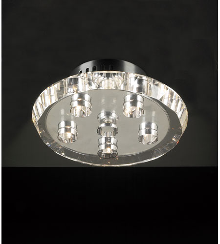 PLC Lighting Calice Flush Mount in Polished Chrome with Clear Glass 23412-PC photo