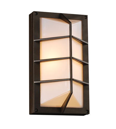 PLC Lighting 2400-BZ Expo 1 Light 11 inch Bronze Outdoor Wall Sconce photo