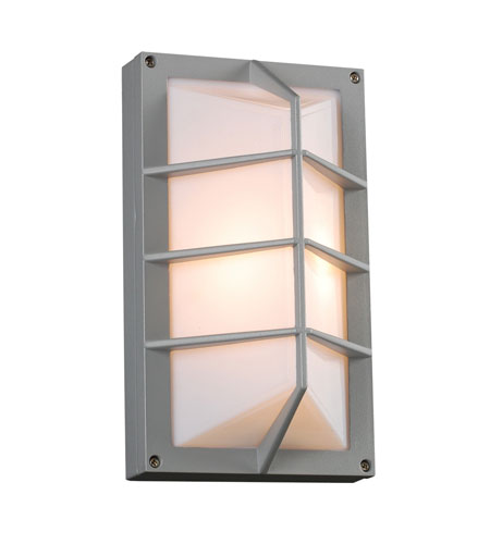 PLC Lighting 2400-SL Expo 1 Light 11 inch Silver Outdoor Wall Sconce photo