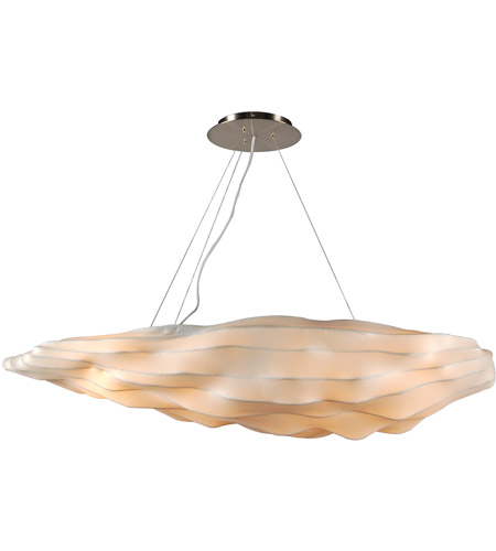 PLC Lighting 2655 Kimoto 4 Light 48 inch Satin Nickel Pendant Ceiling Light photo
