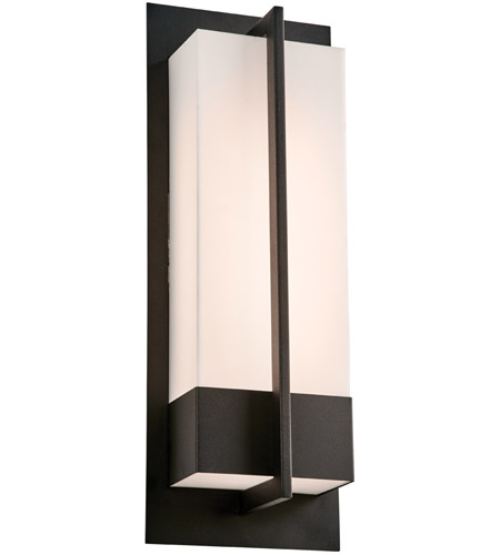 PLC Lighting 2906BK Brecon LED 20 inch Black Outdoor Wall Light, Large photo