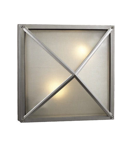 PLC Lighting Danza 2 Light Outdoor Wall Sconce in Silver 31700-SL photo