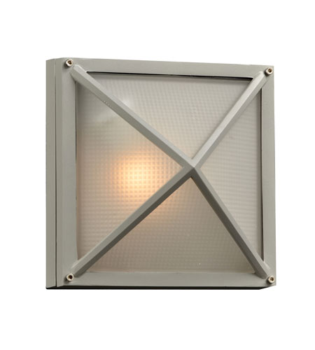 PLC Lighting 31705-SL Danza II 1 Light 8 inch Silver Outdoor Wall Sconce photo