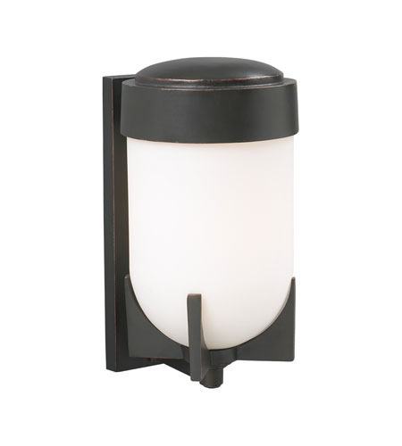PLC Lighting Firenzi 1 Light Outdoor Wall Sconce in Oil Rubbed Bronze 31756-ORB photo