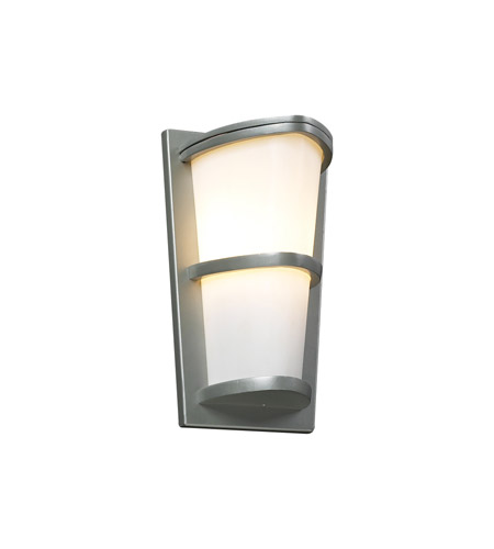 PLC Lighting 31912-SL Alegria 1 Light 13 inch Silver Outdoor Wall Sconce in Incandescent photo