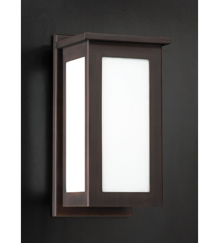 PLC Lighting Monaco Outdoor Wall Sconce in Oil Rubbed Bronze with Matte Opal Glass 32016-ORB photo
