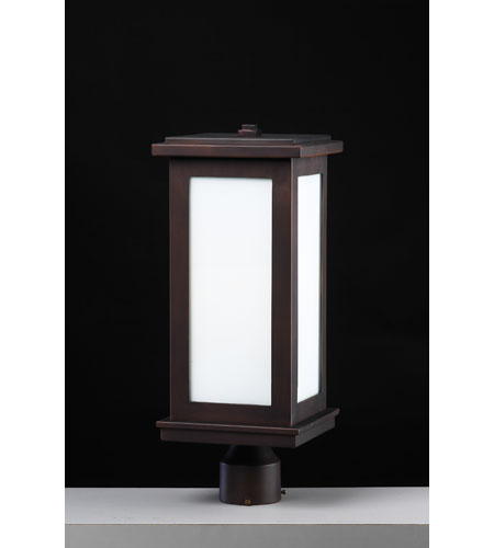 PLC Lighting 32018-ORB Monaco 1 Light 20 inch Oil Rubbed Bronze Outdoor Post Mount photo