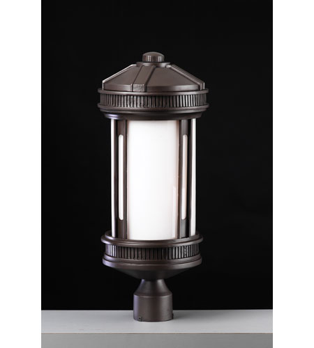 PLC Lighting 32035-ORB Barcelona 3 Light 22 inch Oil Rubbed Bronze Outdoor Post Mount photo