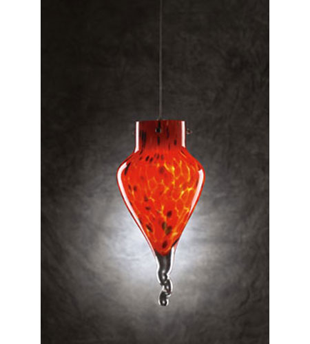 PLC Lighting Icicle 1 Light Mini Pendant in Satin Nickel 326-RED photo