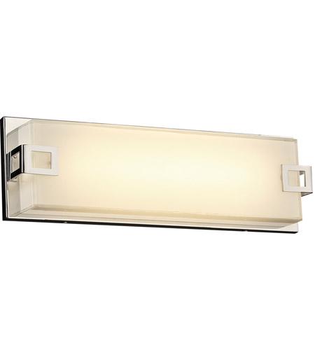 plc lighting 3341pc tucker led 16 inch polished chrome vanity wall light