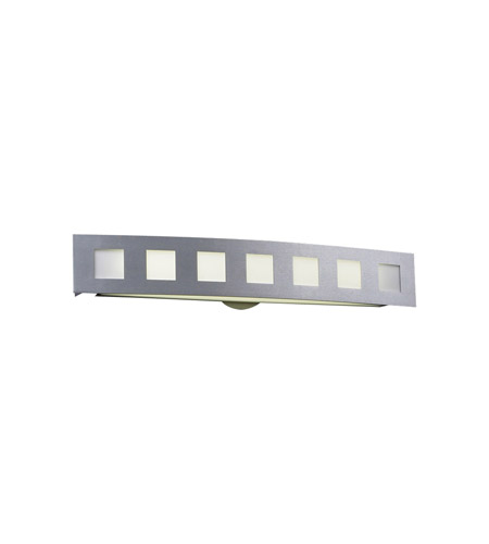 PLC Lighting Cayman 1 Light Vanity Light in Aluminum 3372-AL photo