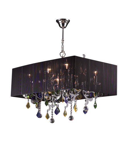 PLC Lighting Torcello 8 Light Chandelier in Polished Chrome 34118-PC photo
