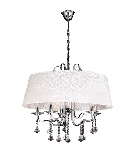 PLC Lighting Lily 5 Light Chandelier in Polished Chrome 34128-PC photo
