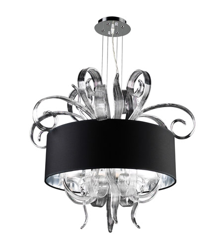 PLC Lighting 34147-PC Valeriano 6 Light 38 inch Polished Chrome Chandelier Ceiling Light photo