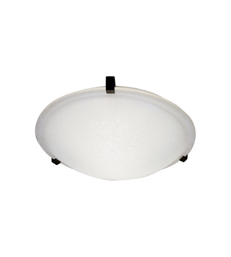 PLC Lighting Nuova 1 Light Flush Mount in Black 3442/CFL-BK photo