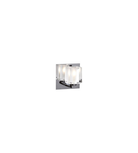 PLC Lighting 3481-PC Glacier 1 Light 5 inch Polished Chrome Wall Sconce Wall Light photo