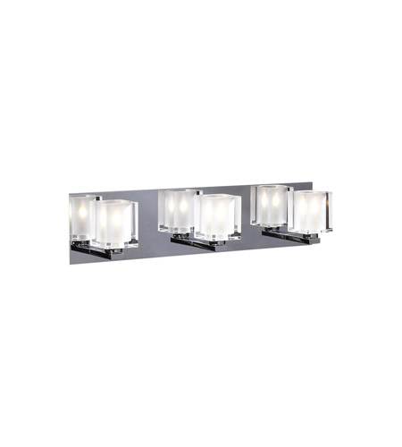 PLC Lighting Glacier 3 Light Vanity Light in Polished Chrome 3483-PC photo